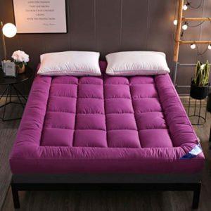 GLzcyoo Double Simple étage Matelas Japonais, étudiant Dortoir Pliant Matelas, futon étage Matelas, Doux et Respirant Tatami Fold Futon, Lit Japonais Rouleau 10cm (Color : D, Size : 1.5 * 2m)