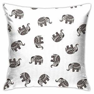 Hangdachang Oreiller carré éléphant pour canapé-lit, chaise voiture, cadeau d'anniversaire, cadeau commémoratif