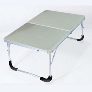 HUSTLE Pupitre Enfant Table D'ordinateur Portable de lit Portable en Alliage D'aluminium Table Pliante Paresseuse Enfants Bureau Petite Table à Manger Argent Brossé 62cm*42cm*27.5cm