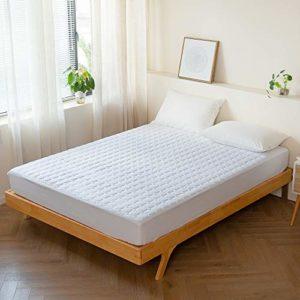 Kono Housse de couette matelassée respirante et lavable avec housse de matelas entièrement élastique extensible jusqu'à 25 cm de profondeur (lit simple 90 x 190 + 25 cm)