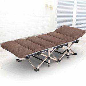 LLFFDC Lit Pliant pour Enfants Simple Solide et Robuste Portable Siesta lit Chaise Longue pour Bureau à Domicile en Plein air 178 × 67 cm