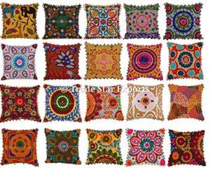 Lot de 5housses de coussin Suzani 40x 40cmdécoratives, coussins d'extérieur de style bohème