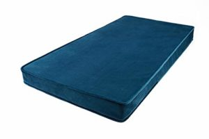 Matelas Betty's Home Play | 120 x 60 cm | Turquoise | Housse en velours doux 100% polyester | Rembourrage en mousse