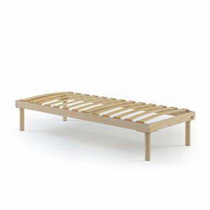 Mobili Fiver, Sommier Simple 80×190 avec Lattes en Bois, Hauteur Totale 26 cm, Contreplaqué de Bouleau, Made in Italy