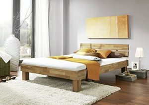 moebel-store24 Jenny Lit futon en chêne Massif huilé 90 x 200 cm
