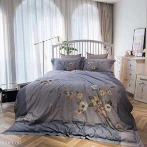 NNDHYS Literie à la Maison Quatre pièces Impression numérique Housse de Couette Drap de lit taie d'oreiller Ensemble 220x240cm