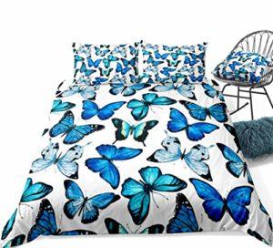 Poulbee Parure de lit pour enfant Motif papillon (A, 200 x 200 + 80 x 80 cm)