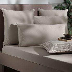 Stanley Hamilton Hisar Cottage Collection Taie d'oreiller Unie Couleur Bloc 300 Fils 100% Coton égyptien de qualité Disponible en (Standard/carré/King Size)