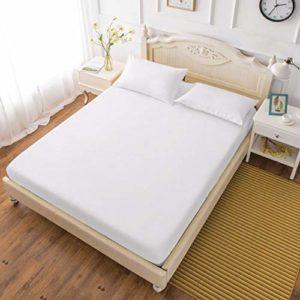 Sunshine Linens Luxe 5* QUALITé profonde Drap-housse 100% coton égyptien 400fils Lit Feuilles, blanc, Super king