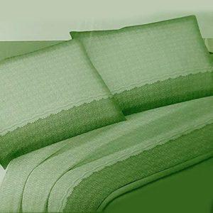 Tessier Parure de lit double Flanella Orietta Verte – Leori