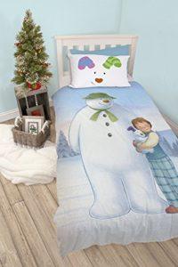 The Snowman Le Bonhomme de Neige Parure de lit Simple, Multicolore