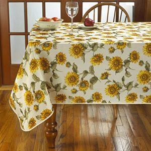 Violet Linen Treasure Lace Oblong/Rectangle Tablecloth, Multicolore, 52″ x 70″