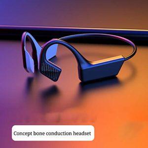 Volking Casque à Conduction osseuse, Bluetooth 5.0 Casque Bluetooth à Conduction osseuse, Casques de Sport sans Fil à Oreille Ouverte avec Micro pour la randonnée à vélo