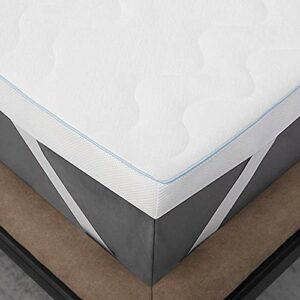 Bedsure Surmatelas 160 x 200 cm Memoire de Forme – sur Matelas 160×200 cm pour Adulte Ergonomique de 7cm Blanc Respirant et Ferme avec Housse Amovible et Lavable