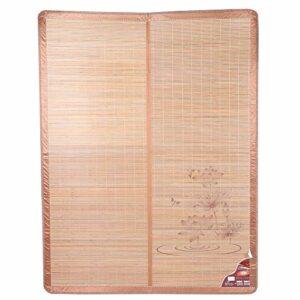 Bicaquu Tapis de Refroidissement Portable, Tapis de Bambou Pratique et Confortable, Matelas de Refroidissement, Chambre à Coucher pour Enfants à la Maison l'été(90 * 190cm)