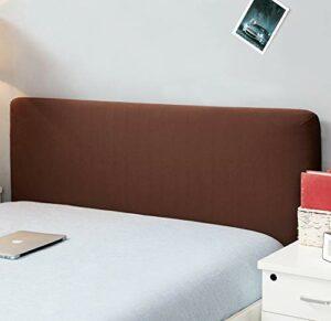 Housse de protection de tête de lit, extensible, solide, colorée – Décor de chambre à coucher – Housse résistante à la poussière, café, Super King (82.5-90.5″)