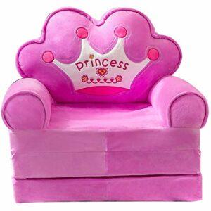Muyuuu Canapé-lit pliable en peluche pour enfants – Pour salle de jeux, chambre à coucher, salon – Couleur : violet