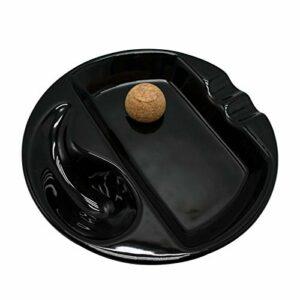 Runde 2 Rest Zigarre Aschenbecher High-End-Keramik Aschenbecher Rauchen Zigarre Zubehör Aschenbecher Outdoor Ceniceros Para El Hogar