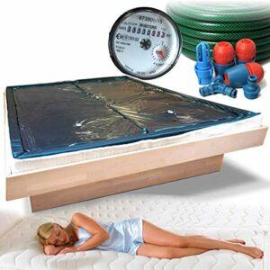 Traumreiter Lot de 2 matelas à eau pour lit à eau + bac de sécurité + tuyau + compteur d'eau pour une bonne capacité de remplissage I Matelas à eau (Free Flow, 180 x 210 cm)