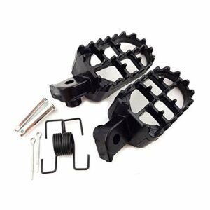 Wjyfexble 2PCS Pads PEDULES PEAD Pieds Motocross AluminiumMotorcycle (Color : Black)