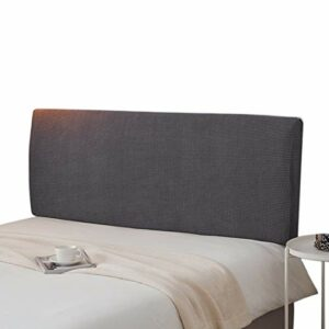 YUENA Care Housse de tête de lit extensible résistante à la poussière Couleur unie Décoration de chambre Gris 150 cm