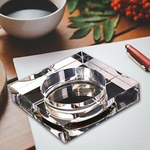 CDFD Cendrier en Cristal Maison Moderne Maison/Bureau Art Déco Portable, Doré