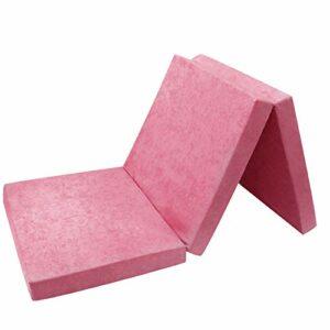 FORTISLINE Matelas d'appoint Pliant 2 Places lit d'appoint lit d'invité futon Pouf 195x120x9 cm Couleur Violet