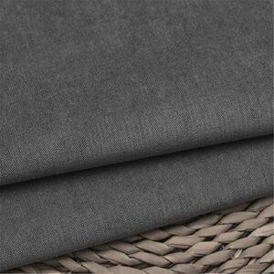 SQINAA Canapé en Velours Ordinaire Tissu Pure Couleur Corduroy Soft Dur Emballage Sofa Fond Extérieur Nul Ne Disparaissant Pas De Pillage 150X100cm,8# Dark Gray