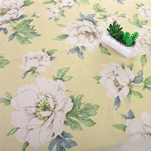 SQINAA Canapé Tissu Flanelle Exquisite Modèles Effacer Les Couleurs Confortables Canapé Tissu Imprimé Floral Extérieur Convient pour Coussin Oreiller 145X100cm,A2
