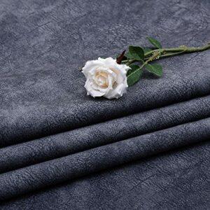 SQINAA Crack Velvet Canapé Tissu Épais De Velours Néerlandais Couleur Solide en Peluche en Peluche Confortable Velours Court sur Le Dos Antidérapant 148X100cm,Dark Gray