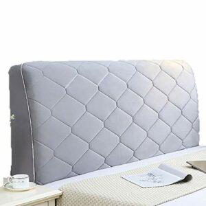 abamboo Housse de tête de lit épaisse et Simple, Anti-poussière, Housse de Protection de tête de lit Extensible, Couleur Unie, Forme ajustée Extensible sans Rides