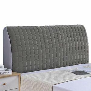 abamboo Housse de tête de lit Simple épaisse Anti-poussière Extensible Housse de Protection de tête de lit Couleur Unie Forme ajustée Extensible sans Rides