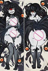 AUGYUESS Taie d'oreiller DRHS-W4634 pour fan de l'anime, cadeau cosplay, Monster Girl Encyclopedia Gazer 160 x 50 cm, peau de pêche