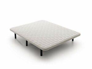 Base tapissée 3D renforcée avec pieds 160 x 180 cm
