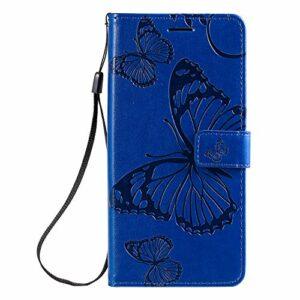 Coque pour Xiaomi Mi Note 10/Note10 Pro/Lite Protection Housse en Cuir PU Pochette,[Emplacements Cartes],[Fonction Support],[Languette Magnétique] pour Xiaomi Note 10 Lite/Pro – DEKT042489 Bleu