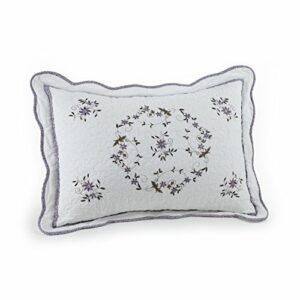 Couvre-lit rembourré en Coton de la Collection Heirloom, Blanc, 20 x 26