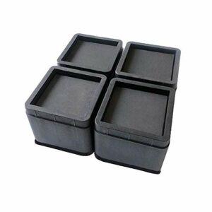 Durable en plastique ABS et en mousse antidérapante Accessoires de pied ménage-lit et plaques de levage de meubles (Color : Black)