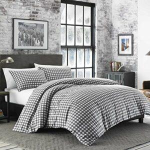 Eddie Bauer Preston Comforter Set, Full/Queen, Gris foncé, Gris foncé, Full/Queen