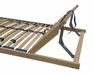 Erst-Holz Sommier à Lattes Flexibles 120 x 190 cm, Zone de la tête réglable 70.32-12-190FV