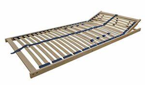 Erst-Holz Sommier à Lattes Flexibles 140 x 200 cm, Zone de la tête réglable 70.32-14FV