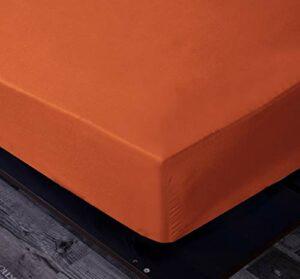 Goza Bedding Drap-housse en microfibre King Orange