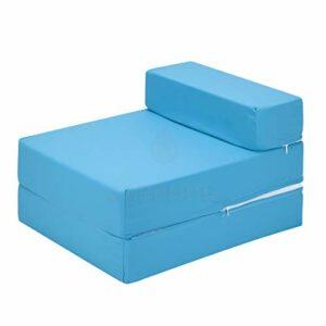 IKB Fauteuil pliant de luxe pour adulte et enfant – Matelas pliable – Turquoise