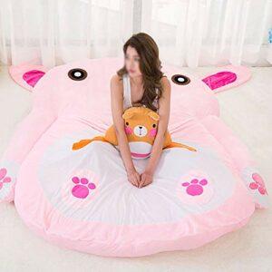 JFTY Peluche Rembourrage futon Matelas Animal Lapin canapé-lit Multifonctionnel Sac de Couchage Dessin animé Tatami Matelas Sol Tapis de Couchage Cadeau(Color:Pink,Size:220 * 170cm)