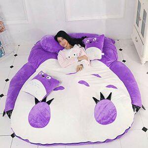 JFTY Peluche Rembourrage futon Matelas Sac de Couchage Multifonctionnel canapé-lit Animal Jouet Cadeau(Color:Purple,Size:220 * 170cm)