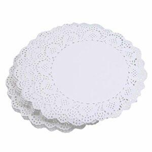 Jinliang 200 pièces Rondes en Papier napperons gâteau Emballage Pad Mariage Vaisselle décoration Fournitures pour Usage extérieur intérieur,7,5 Pouces