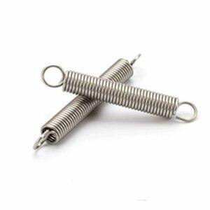 Jjzhb YuLi-Printemps avec Un Ressort d'extension de Crochet, 10 pcs/lot, 0,6 x 5 mm de Tension en Acier Inoxydable de 0,6 mm, Longueur 15mm à 50 mm,DIY Outils Accessoires (Length : 15mm)