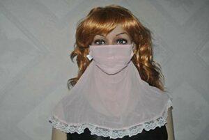 JKLAQ Masque de protection solaire respirant et résistant au sable et à la poussière et au froid en soie, masque en soie respirant
