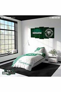 Konya Store Konyaspor Parure de lit simple Blanc