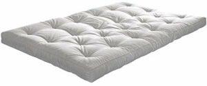 mds Le futon : découvrez la qualité du Sommeil Nordique ! Un Choix Complet (matériaux et Dimensions) – 140 x 200 cm, Gamme Basic – épaisseur Futon 14 – Natural
