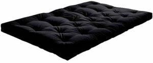 mds Le futon : découvrez la qualité du Sommeil Nordique ! Un Choix Complet (matériaux et Dimensions) – 140 x 200 cm, Gamme Basic – épaisseur Futon 14 – Noir